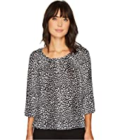 MICHAEL Michael Kors - Cheetah Peasant Top