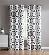VCNY Home Caldwell window treatment curtains 76x84, Blue