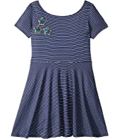 Skater Stripe Stars Dress (Big Kids)