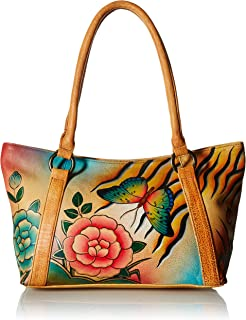 Anna by Anuschka Genuine Leather Tote Shoulder Bag | Hand-Painted Original Artwork