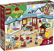 مجموعة ألعاب بيت العائلة هابي تشايلدهود مومنتس 10943 من ليجو دوبلو تاون ؛ لعب خيالي ومرح إبداعي للأطفال (227 قطعة)