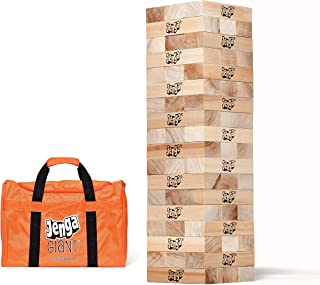 Jenga Giant JS7 (Stacks to Over 5 feet) Precision-Crafted, Premium Hardwood Game with Heavy-Duty Carry Bag (Authentic Jeng...