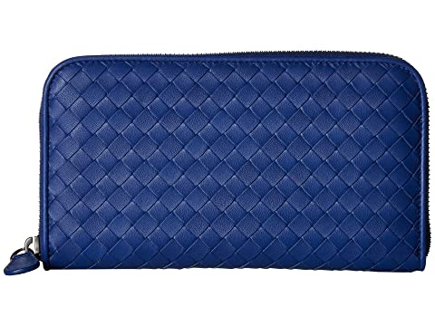 Azul Cartera Bottega Zip Cobalto Intrecciato Veneta Around xSqqn4w8X