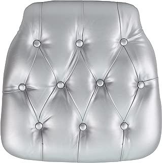 Flash Furniture Hard Silver Tufted Vinyl Chiavari Chair Cushion