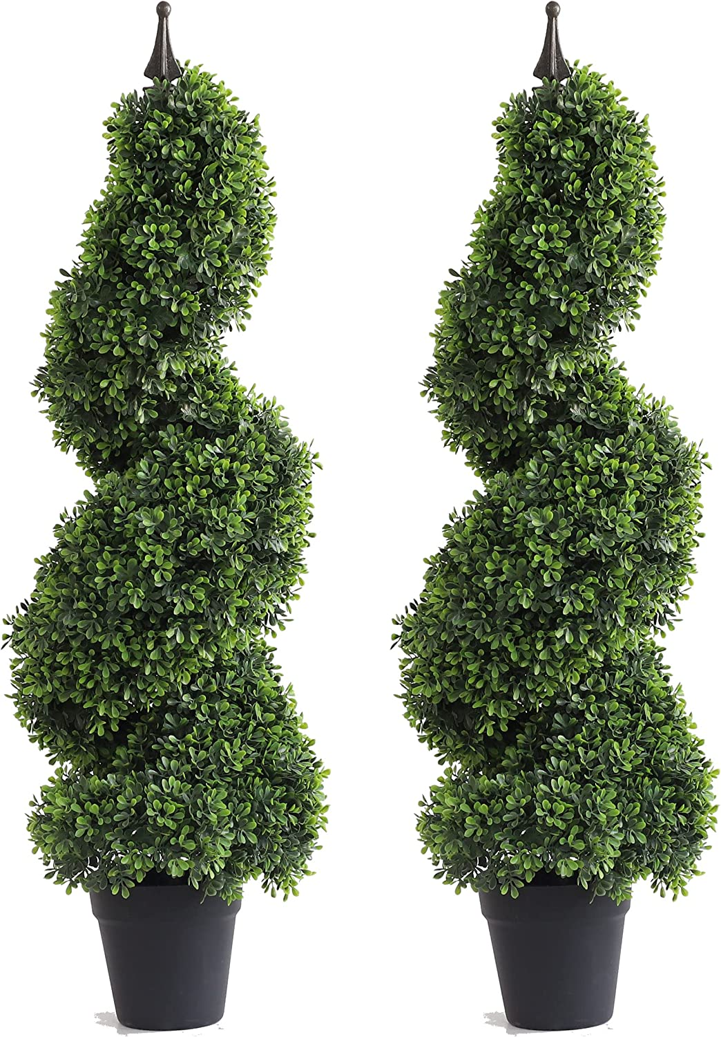 3ft Artificial Spiral Boxwood Topiary Faux Artifici Miami Mall Tree Outlet sale feature