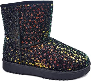Link GE49 Girl's Mid Calf Pull-On Style Winter Snow Boots