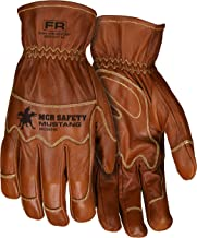 MCR Safety MU3624KL Mustang Utility Driver Glove, Premium Grain Goat Double Palm, DuPont Kevlar 360 liner, Wing Thumb, Sewn with Kevlar, Hand Protection, Utility, Construction, 1 pair, Size Large