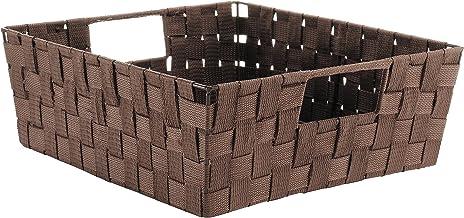 Whitmor Woven Strap Shelf Storage Tote Java