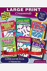 KAPPA Super Saver LARGE PRINT Crosswords Puzzle Pack-Set of 6 Full Size Books Paperback