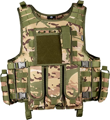 MGFLASHFORCE Tactical Airsoft Vest Adjustable Modular Paintball Vest
