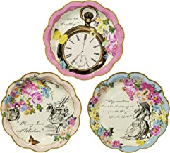 Talking Tables TSALICE Alice In Wonderland Paper Plates Mad Hatter Tea Party, Small, Mixed colors