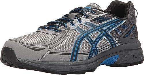 ASICS maschis Gel-Venture 6 correrening sautope, Aluminum nero Directoire blu, 12.5 Medium US