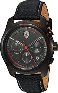 Ferrari Mens Quartz Watch, Analog Display and Nylon Strap 830446