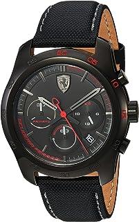 Ferrari Mens Quartz Watch, Analog Display and Nylon Strap 830446