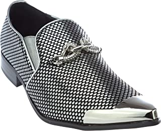 54dc28b22ae Amazon.com: Silver Men's Loafers & Slip-Ons