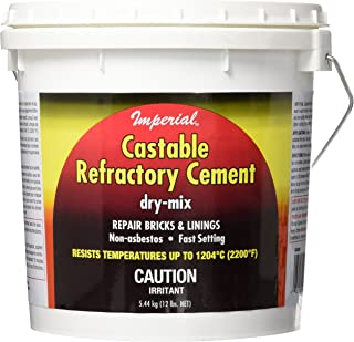 Imperial Manufacturing KK0062 Castable Refractory Cement, Dry mix Buff, 12 lb (5.4 kg) - 2 Pack
