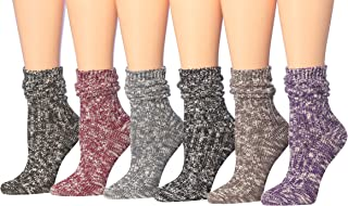 Women's Warm Winter Crew Boot Socks 6 pairs