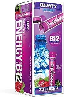Zipfizz Healthy Energy Drink Mix, Hydration with B12 and Multi Vitamins, Berry, 20 count