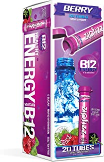 Zipfizz Healthy Energy Drink Mix, Hydration with B12 and Multi Vitamins, Berry