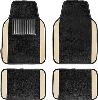 FH Group F14407BEIGE Premium Full Set Carpet Floor Mat (Sedan and SUV with Driver Heel Pad Beige)