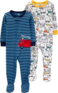 Carter's Boys' Toddler 2-Pack Cotton Footed Pajamas