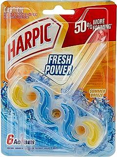 Harpic Fresh Power Toilet Block Cleaner, Summer Breeze, 39g