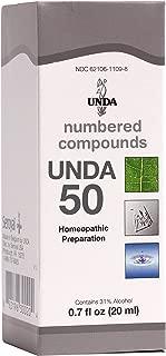 UNDA - UNDA 50 Numbered Compounds - Homeopathic Preparation - 0.7 fl oz (20 ml)