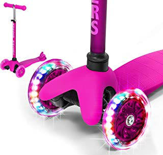 Rugged Racers Pink Kick Scooter for Boys & Girls 3 Wheel Scooter, Kick Scooter for..