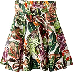 Oscar de la Renta Childrenswear - Mikado Jungle Monkeys New Skirt (Toddler/Little Kids/Big Kids)
