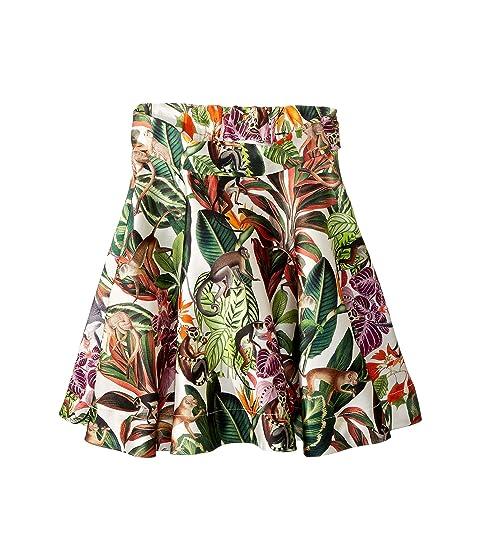 Oscar de la Renta Childrenswear Mikado Jungle Monkeys New Skirt (Toddler/Little Kids/Big Kids)