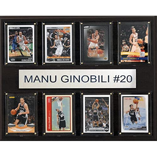 NBA San Antonio Spurs Manu Ginobili 8-Card Plaque, 12 x 15-Inch