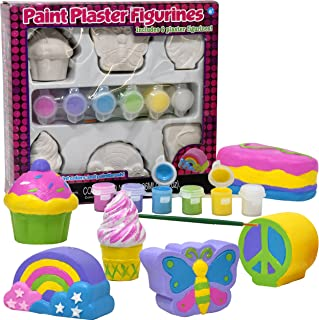Decorate Your Own Figurines, Paint Your Own Kids Set - Includes Six Figurines, Paint Brush, Six Pots of Paint