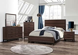 Kings Brand Furniture – Athens 6-Piece Queen Size Bedroom Set. Dresser, Mirror, Chest & 2 Night Stands