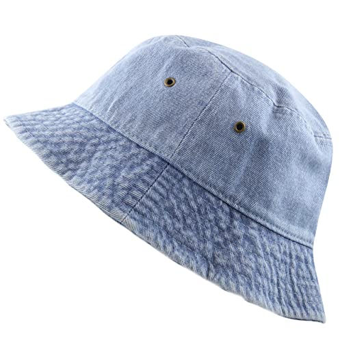 d36cb4dadd6 The Hat Depot High Quality Washed Cotton Denim Bucket Hat