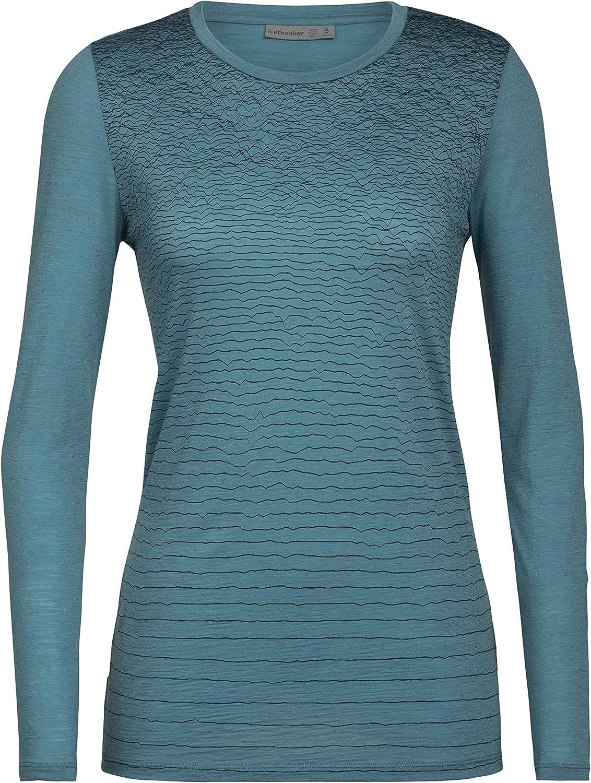 Cheap mail order sales Icebreaker Merino Womens Spector Long Wool Sleeve T-Shirt Basi Colorado Springs Mall -