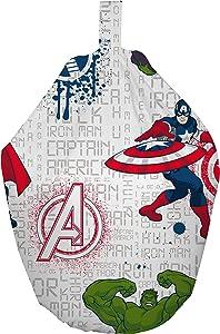 Marvel Avengers Sitzsack, Stoff, Weiß, 52x 38x 52cm