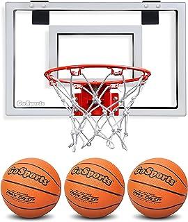 GoSports Basketball Door Hoop with 3 Premium Basketballs & Pump