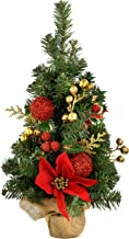 WeRChristmas Burlap Base Decorated Christmas Tree, 2 feet/60 cm - Red/Gold