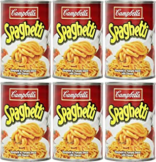 Campbell's Spaghetti in Tomato Sauce with Cheese, (Pack of 6)