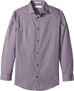 Calvin Klein Kids - Open Dot Long Sleeve Shirt (Big Kids)