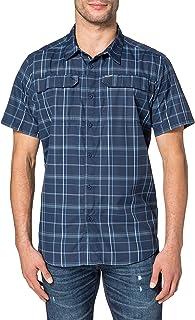 Columbia Men's Multi Plaid Short Sleeve Shirt, Silver Ridge 2.1
