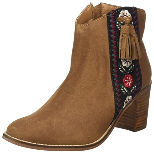daedbce7f127a Brown Ankle Boots Tassel: Amazon.co.uk