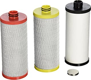 Aquasana AQ-5300R 3-Stage  Under Sink Water Filter Replacement Cartridges,Red, Yellow,/Black