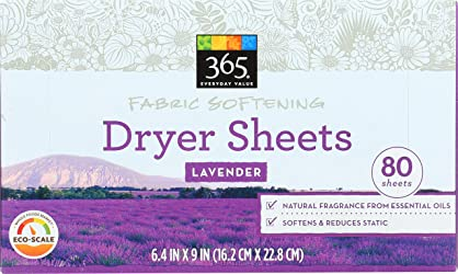 365 Everyday Value, Fabric Softening Dryer Sheets, Lavender, 80 ct