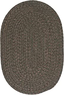 Colonial Mills Hillsdale Braided Reversible Rug USA Made Olive 9' x 12' Oval 9' x 12' Beige