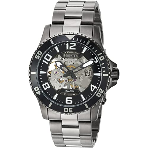 Invicta Mens Objet D Art Automatic-self-Wind Watch with Stainless-Steel Strap