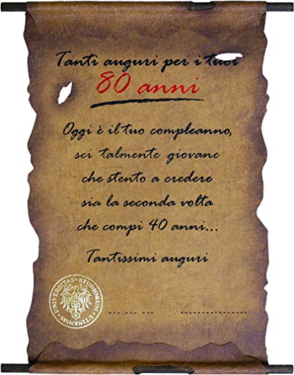 Biglietto Pergamena Auguri Compleanno 80 Anni Amazon It Cancelleria E Prodotti Per Ufficio