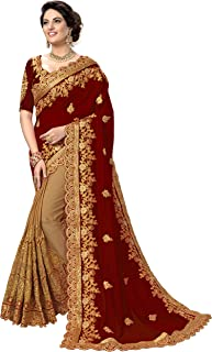 Panash Trends Women's Silk Heavy Embroidery Saree