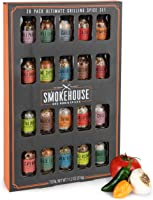 Thoughtfully Gifts, Smokehouse Ultimate Grilling Spice Set, Grill Seasoning Gift Set Flavors Include Chili Garlic,...