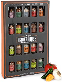 Thoughtfully Gifts, Smokehouse Ultimate Grilling Spice Set, Grill Seasoning Gift Set Flavors Include Chili Garlic, Rosemar...